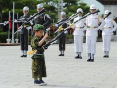 The Little Honor Guard Members