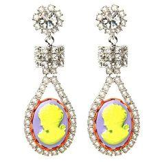 Tom Binns Cameo Jobim Crystal Earring ($370) ❤ liked on Polyvore