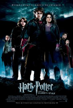 IMDb Rating: Adventure, Family, FantasyDirector: Mike NewellRelease Date: 18 November Cast: Daniel Radcliffe, Emma Watson, Rupert Grint Movie Story: Harry's fourth year at Hogwarts is going to begin& Movie Posters Uk, Harry Potter Movie Posters, Harry Potter Films, Harry Potter World, Tom Felton, Ron E Hermione, Ron Weasley, Hermione Granger, Draco Malfoy