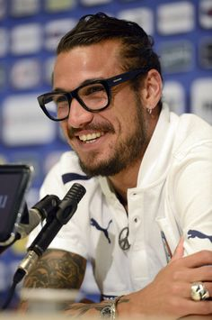 Pablo Osvaldo Photos Photos - This image has been converted to black and white.) Pablo Osvaldo of Italy during a press conference at Coverciano on September 5, 2012 in Florence, Italy. - Italy Training Session & Press Conference