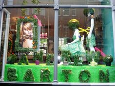 hair salon window display - Google Search