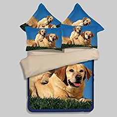 LELVA Cute Dog Print Duvet Cover Set Dogs Bedding Set Teens Bedding Kids Bedding Boys and Girls Twin Full Queen (Twin, 9)