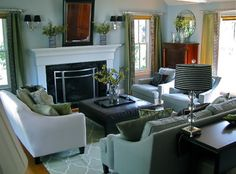 Yellow And Brown Livingroom Design Ideas, Pictures, Remodel, and Decor - page 30
