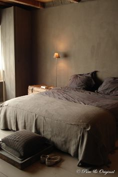 A dark bedroom helps with your sleep. Love these browns by Pure Original Trendy Bedroom, Cozy Bedroom, Dream Bedroom, Master Bedroom, Bedroom Decor, Taupe Bedroom, Bedroom Ideas, Bedroom Styles, Brown Interior