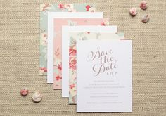 Oh So Beautiful Paper: Vintage Floral Cotton Wedding Invitation Inspiration