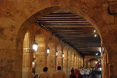 Salamanca - Plaza Mayor (Arched Arcades) by WVJazzman, via Flickr