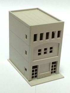 Outland Models Railway Modern 3-Story Building / Shop B Unpainted N Scale 1:160 #OutlandModels