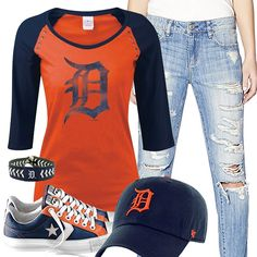 Detroit Tigers Converse Outfit