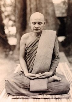 The revered Buddhist master, Ajahn Chah of the Forest Tradition of Theravada Buddhism. Gautama Buddha, Buddha Buddhism, Buddhist Monk, Tibet, Theravada Buddhism, Buddhist Philosophy, True Nature, Yoga Meditation, Mindfulness