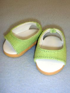 """2 3/4"""" Light Green Pretty Wedge, Footwear, Dolls, CR's Crafts - Largest Variety of Doll Supplies and Bear Supplies ANYWHERE!"""