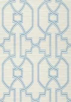 PROMENADE, Cream and Blue, T277, Collection Texture Resource 6 from Thibaut
