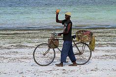 The man of the fruit in Zanzibar