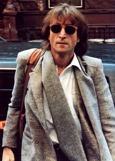 john lennon nyc. handsome and fashionable.