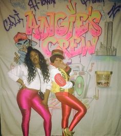 Beyoncé dressed as a memeber of Salt-N-Pepa at Angie Beyincé's 80s/90s theme 40th birthday party in Los Angeles. October 29th, 2016