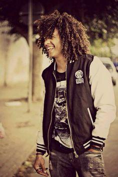 Black Men Hairstyles, Permed Hairstyles, Afro Hairstyles, Haircuts For Men, Curly Afro, Curly Hair Men, Big Hair, Curly Hair Styles, Men's Hair