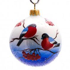 Bullfinches Ball Christmas Ornament