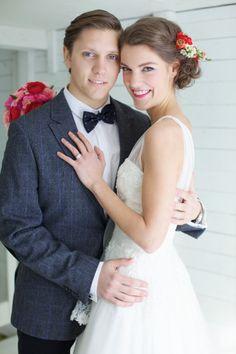 Pretty Canada wedding: http://www.stylemepretty.com/canada-weddings/quebec/2014/08/04/romantic-barn-wedding-inspiration-shoot/   Photography: Valerie Busque - http://www.valeriebusque.net/