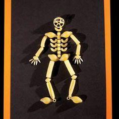 ThanksKid craft pasta skeleton awesome pin