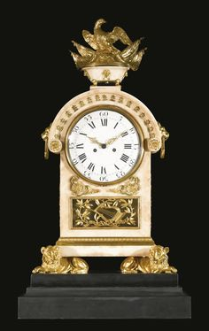 An Italian Neoclassical ormolu-mounted white marble mantel clock, attributed to the workshop of Luigi and Guiseppe Valadier Rome, circa 1780-1785   Lot   Sotheby's