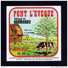 Autres collections > Bistrot & Alimentation > Etiquettes > Fromage / pont de l'évêque - Delcampe.fr
