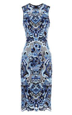 Shop Sleeveless Guipure Lace Dress by Valentino - Moda Operandi