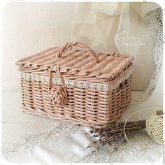 Купить Сундучок для Принцессы плетеная шкатулка - сундучок плетеный, шкатулка, для девочки, для принцессы, розовая пудра