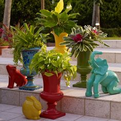"Display your favorite plant in this bright & bold planter in an elegant urn design. It's perfect on the patio or in the backyard!    dimensions: 21½""H x 13¼"" Diam.  ettringite/acrylic/fiber wipe clean imported we also offer a beautiful range of lighting ideas for the outdoors, plus cushions & pillows for a bright pop of color where you need it!     Why Buy? Our vast selection of outdoor décor consistently refreshes your home with new ideas, designs & styles. You'll l..."