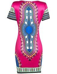 064e0eb3c6d online shopping for Knight Horse Women Traditional African Print Dashiki  Bodycon Plus Size Short Sleeve Dress from top store. See new offer for Knight  Horse ...