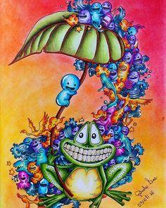 Doodle finalizado amando esse livro #colorindolivrostop #coloringbook…