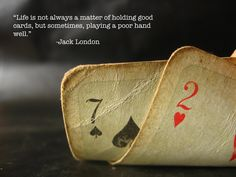 Every hand is dealt different!