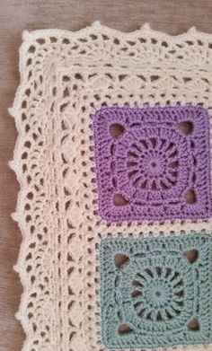 Ravelry: Bohemian Blanket by Sharon Blignaut Ravelry: SharonBlignaut's Bohemian Blanket - Notes for border especially. Discover thousands of images about Ravelry: SharonBlignaut's Bohemian Blanket 3557 best crochet blankets afghans motifs etc images Bohem Crochet Blanket Border, Crochet Quilt, Crochet Blocks, Crochet Squares, Crochet Motif, Crochet Stitches, Crochet Baby, Ravelry Crochet, Crochet Mandala