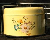 Vintage Yellow Cake Carrier TheCozyOldFarmhouse on Etsy