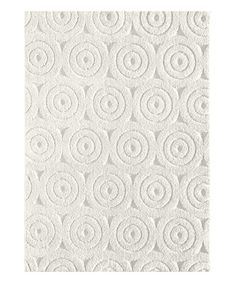 6fec868d481 Loving this Off-White Circle Textured Rug on  zulily!  zulilyfinds White  Area
