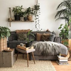 p i n t e r e s t : abbbygiiirl Boho Living Room abbbygiiirl Boho Living Room, Interior Design Living Room, Home And Living, Living Room Designs, Living Room Decor, Bedroom Decor, Design Bedroom, Living Room With Plants, Interior Designing