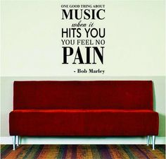 Bob Marley One Good Thing About Music Wall Decal Sticker Amazon