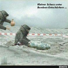 Kleiner Scherz unter Bomben-Entschärfern.. | Lustige Bilder, Sprüche, Witze, echt lustig
