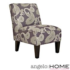 The angelo:HOME Dover armless accent chair was designed by Angelo Surmelis. The Dover armless upholstered chair features a curved square broad back, no sag springs, deep seat cushion and thick foam cushion for extraordinary comfort.