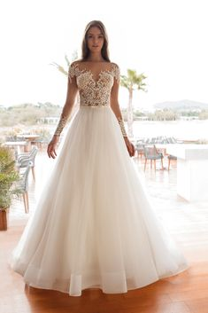 Cosmobella Collection - Sophisticated and Modern Bridal Gowns Girls Bridesmaid Dresses, Beautiful Bridesmaid Dresses, Bridal Dresses, Girls Dresses, Lace Wedding Dress, Wedding Dress Styles, Dream Wedding Dresses, Wedding Gowns, Tulle Wedding