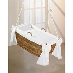 Hanging bassinet....I could do this for less than their price. Sheesh.