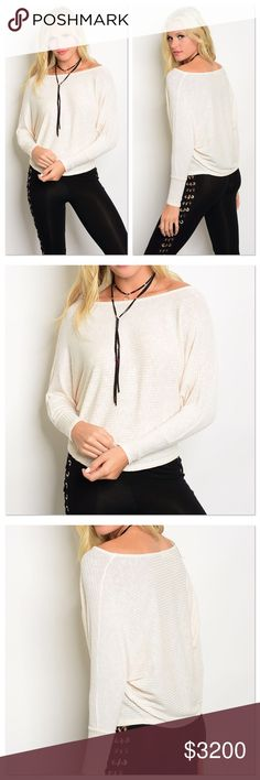🔜 Creamed Ribbed Sweater Top Coming soon! Like to be notified! Sweaters Crew & Scoop Necks