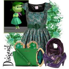 Disgust - Insideout by jess-d90 on Polyvore featuring Gabriella Rocha, Michael Kors, MIJA, Elie Tahari, Emilio Pucci and Alice + Olivia