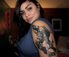 Crazy Half Sleeve #Tattoo Idea for Women by www.tattooswomen.com