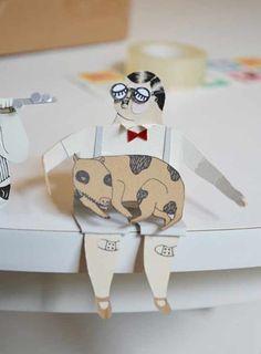 malin koort paper people - love these!