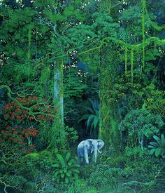"Hirō Isono was a Japanese artist born in 1945, and passed away on May 2013. Shown in the majority of his work, you will notice that he had an affinity for trees, forests, and nature. He gained more recognition from his artwork contributions to the 1990's RPG series ""Secret of Mana"" or ""Seiken Densetsu"", for the SNES. His visions and techniques always invoked reality with just a little hint of mystery. Not quite surreal, but just enough to make you think about what you're looking at."
