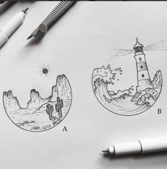 Best Tattoo inspiration 2017 - sketches by alucinori - which one is your favourite? A or B?