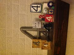 """My OCD collection of """"4""""s on mantle picked up from junk shops across Texas.  Whenever I see a 4, I buy it!"""
