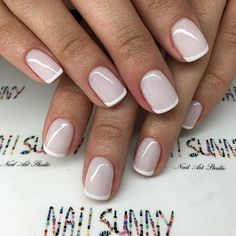 Молочный French OPIGELCOLOR - 1200₽ / маникбр 200₽= 1400₽ мастер Армина, @nail_sunny Киевская
