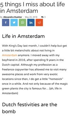Tiffin Box, Living In Amsterdam, Epic Party, Kings Day, Word Up, I Missed, Sunny Days, Things To Think About, Life