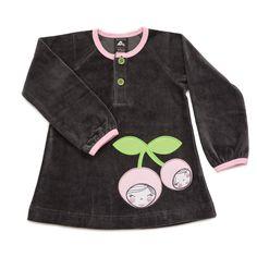 Nosh Organics - Velour Tunic with Cherry - Maat 86/92
