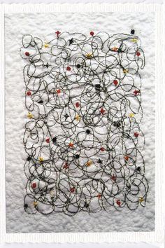 Squiggle  in the style of Jackson Pollock  by AngiesTextileArt, £2.50